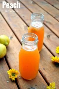Peach Lemonade – A Summer Cooler