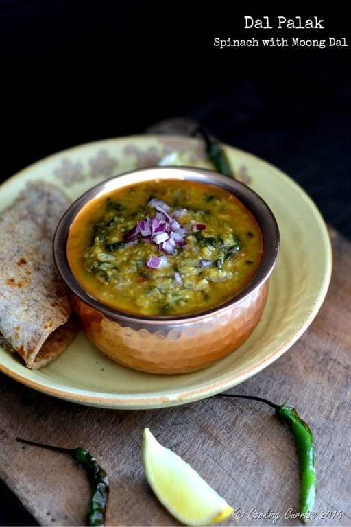Dal Palak - Spinach with Moong Dal- Vegan | Gluten Free