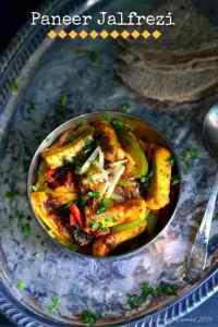 Paneer Jalfrezi - Paneer Stir Fried with Vegetables