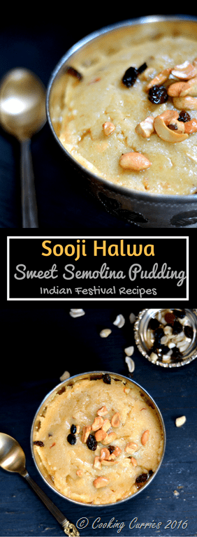how to prepare sooji halwa