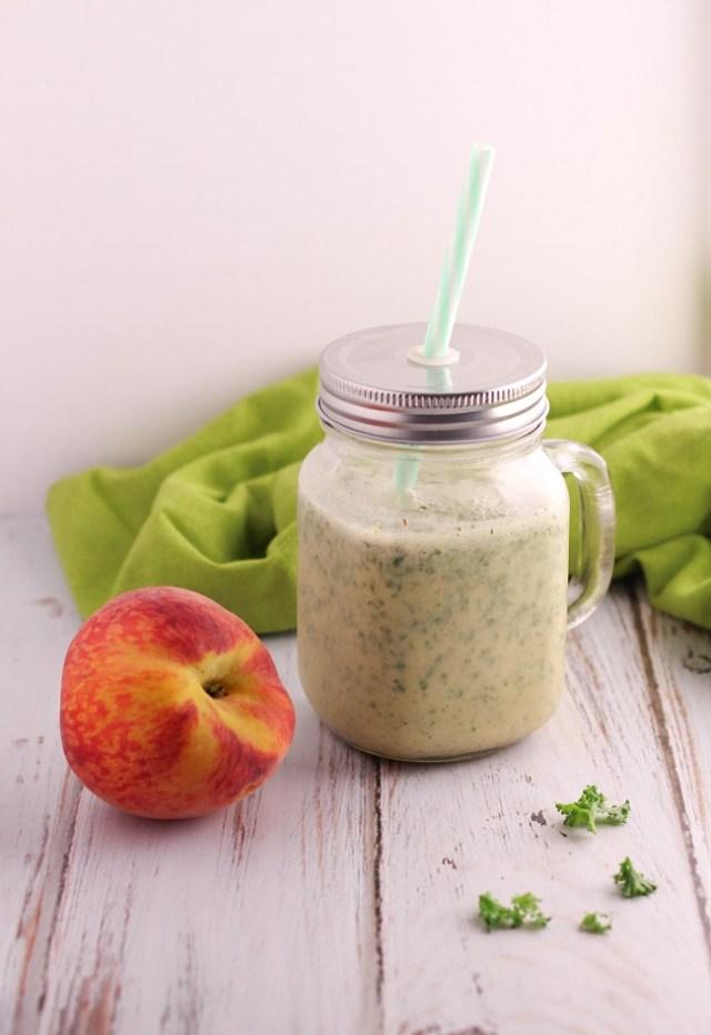 Peach Almond Green Smoothie