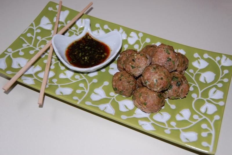 Large Of Asian Turkey Meatballs