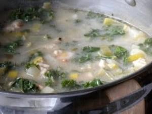 dijon chicken stew with kale