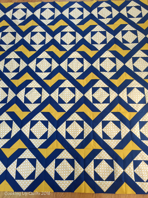 Oomph - Finished Quilt Top