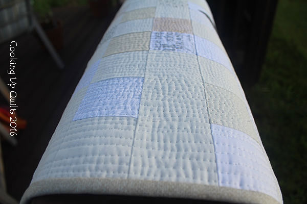 Straight Line quilting texture