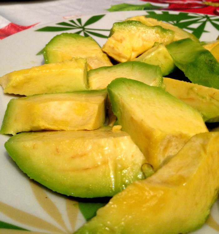Fresh avocado, used to make a delicious Dominican Sancocho recipe