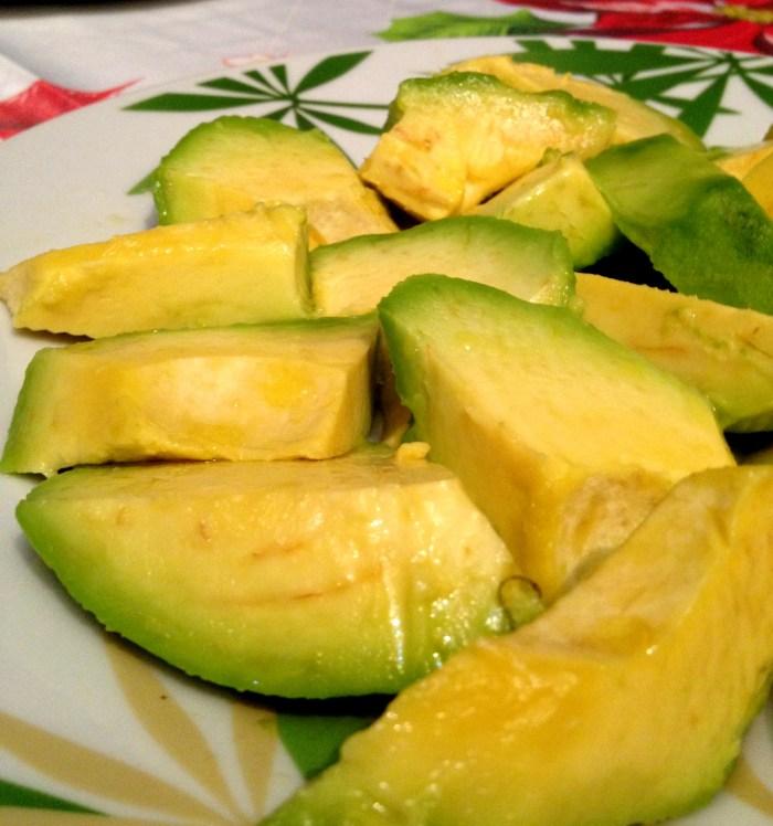 Fresh avocado, used to make a delicious Dominican Sancocho recipe
