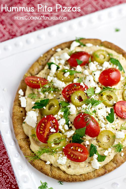 Hummus-Pita-Pizzas
