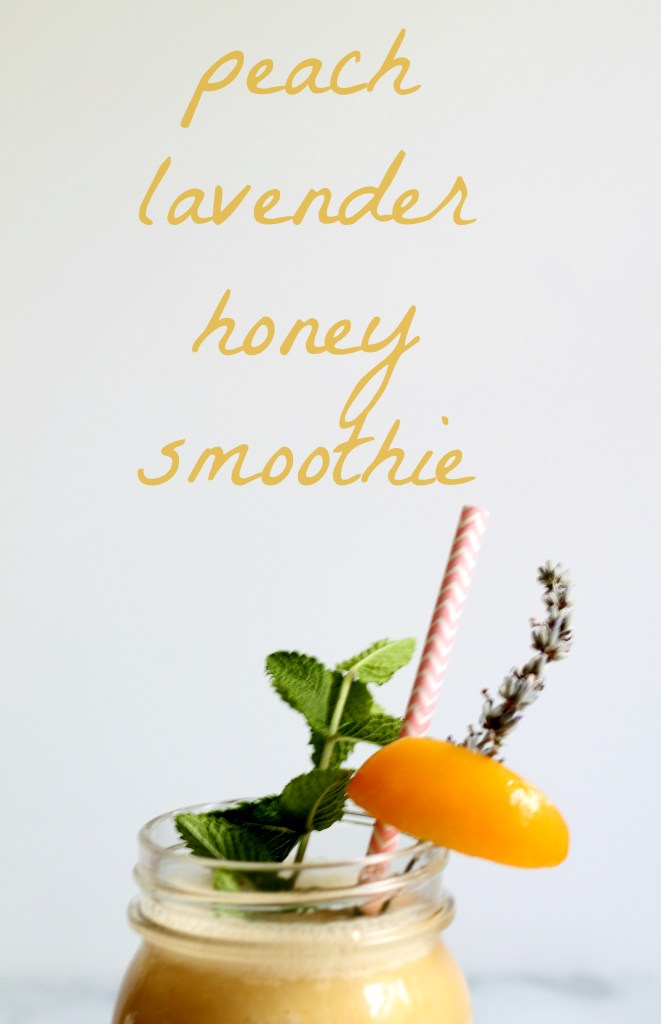 Peach Lavender Honey Smoothie 01