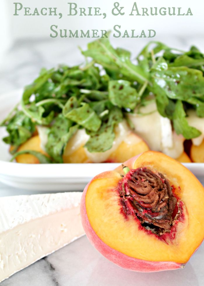 Summer Peach, Brie, and Arugula Salad