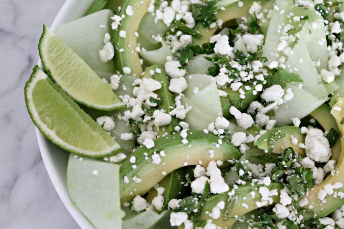 Avocado Lime Cucumber Salad