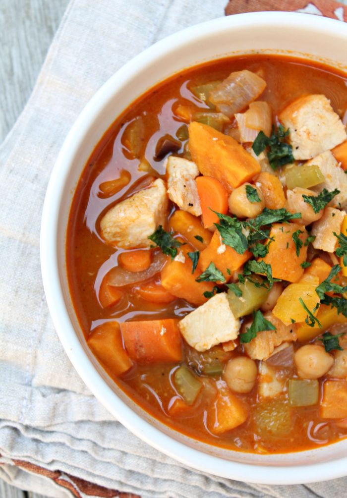 Perfect fall recipe: One Pot Chicken, Chickpea, and Curry Soup