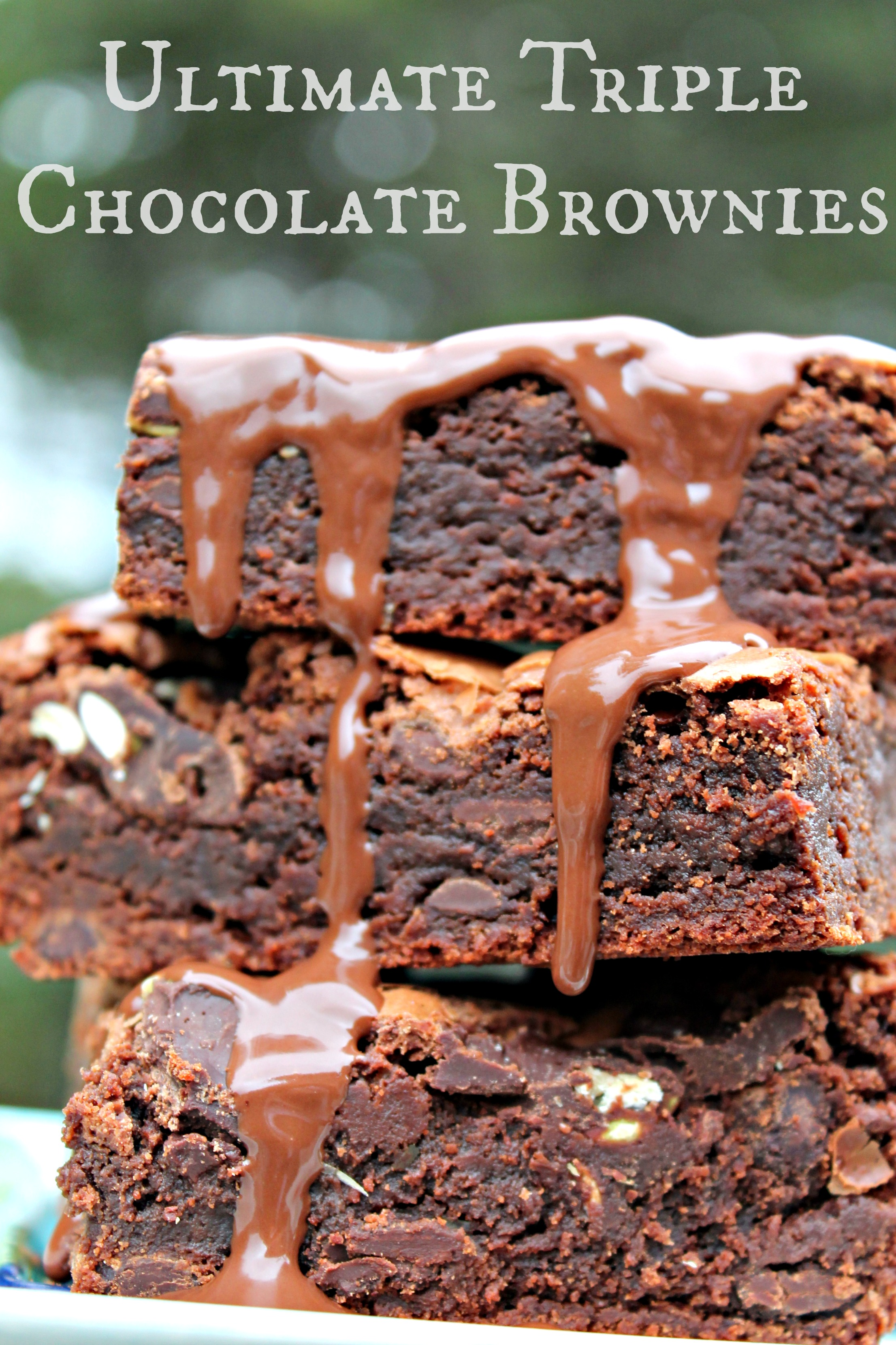 Ultimate Triple Chocolate Brownies - Cooking with Books