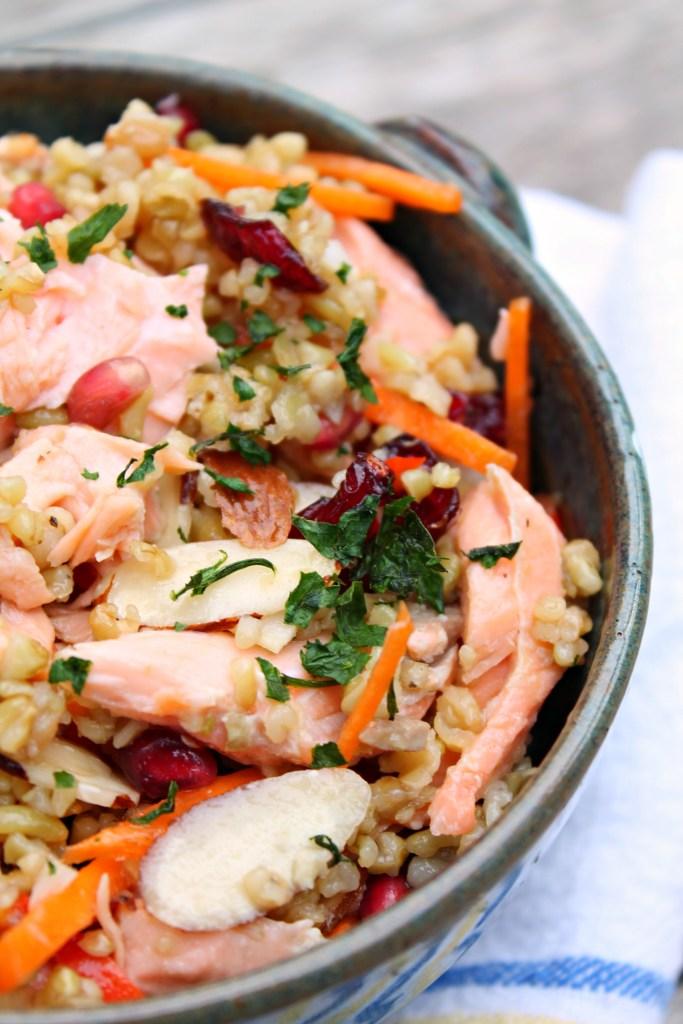 Whole Grain Salmon Salad 02