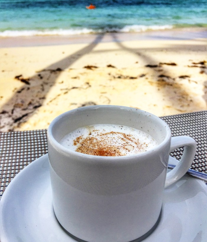 Coffee with a view of the ocean in beautiful Punta Cana, Dominican Republic