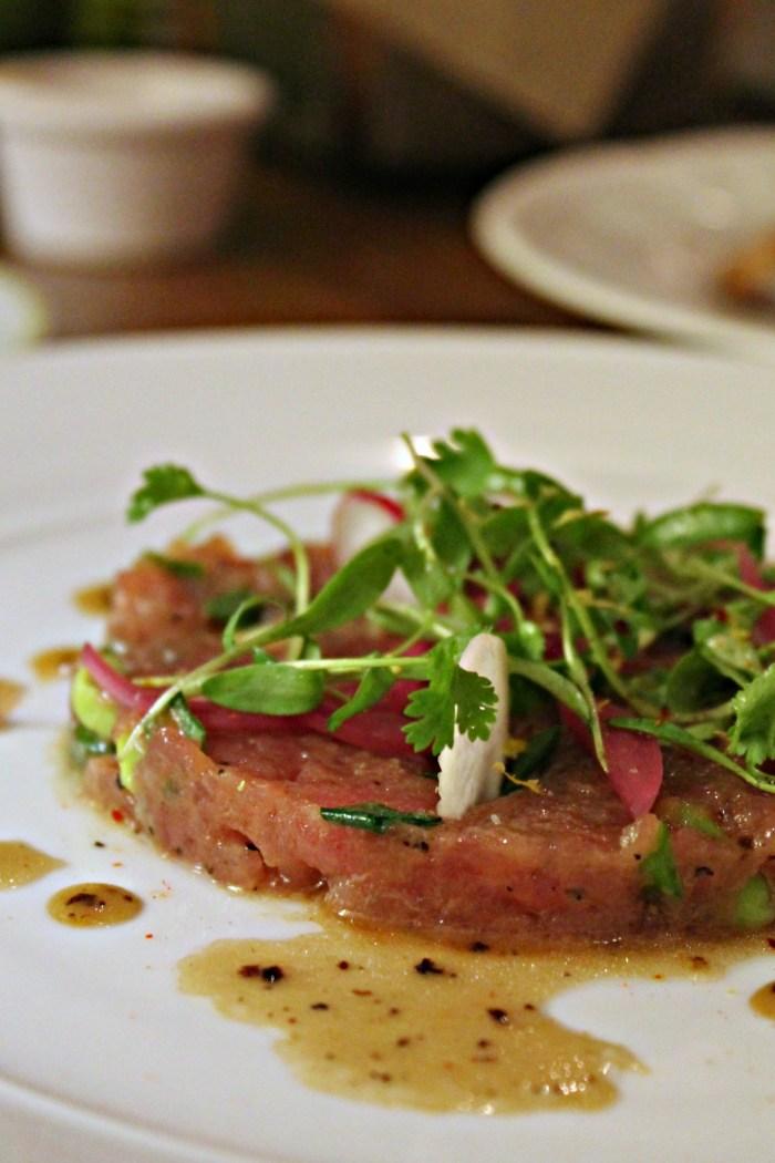 "Hidden gems in Las Vegas include a restaurant off of the Strip called ""Honey Salt"" - Shown is the tuna tartare"