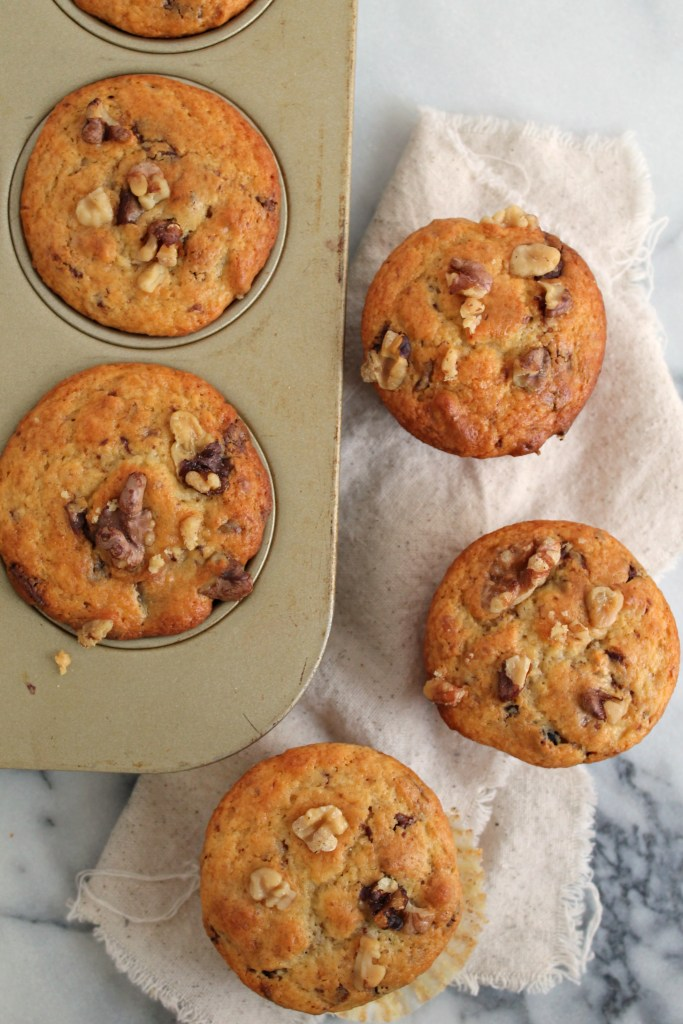Chocolate Walnut Yogurt Muffins