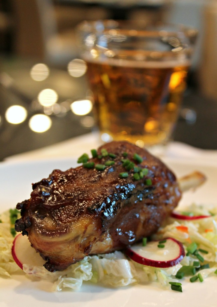 Paired BBQ Pork Ribs with Creamy Napa Slaw, paired with Berkshire Brewing Company Steel Rail Ale