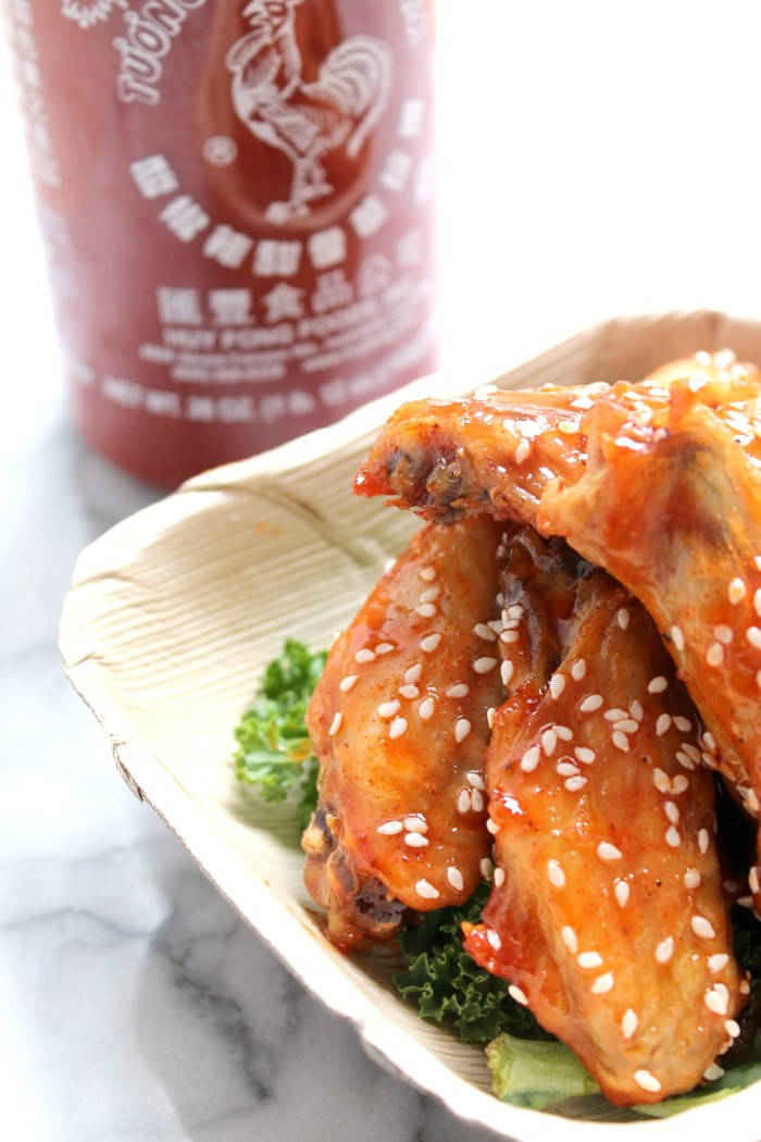 Spicy Sweet Sriracha Sesame Chicken Wings - Recipe on CookingWithBooks.net