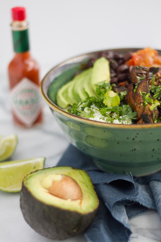 Vegan Cauliflower Burrito Bowl recipe