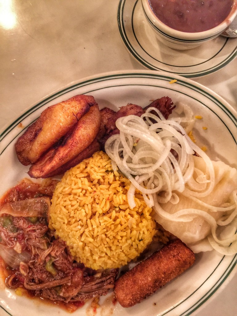 Cuban food at the ever popular restaurant Versailles in Miami is delicious!