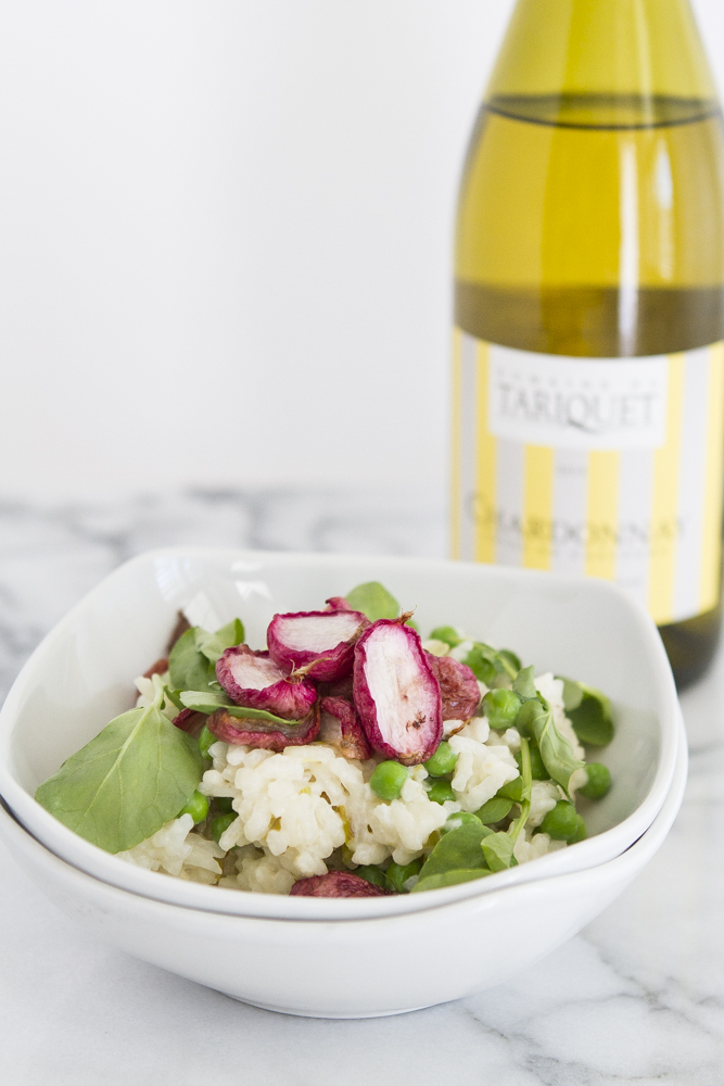 Spring Pea and Caramelized Radish Risotto