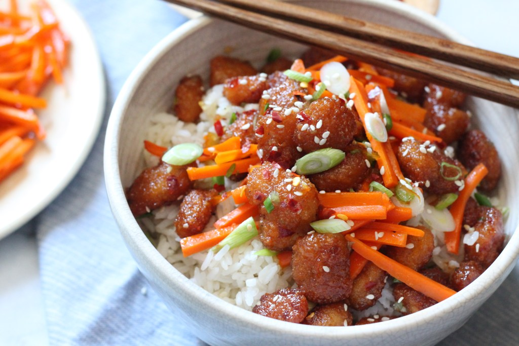 Firecracker Shrimp Rice Bowl recipe