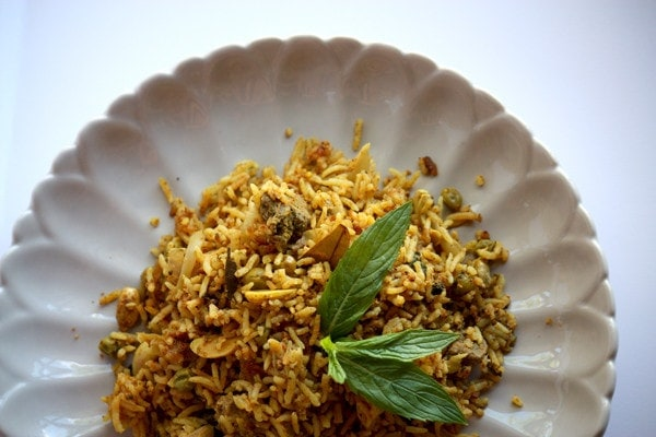 A medley of fragrant spiced rice and meat.