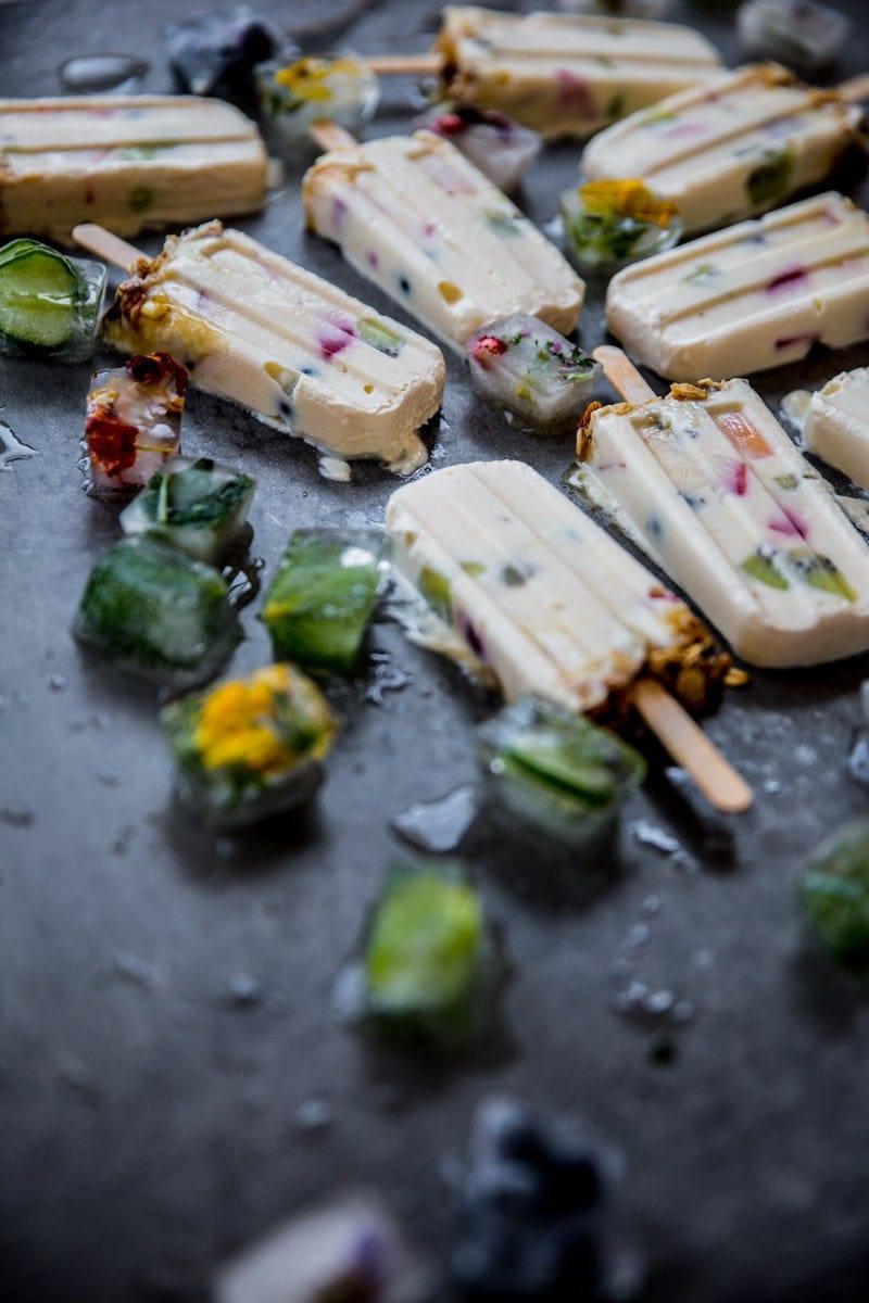 Yoghurt Granola And Honey Popsicles - Cook Republic