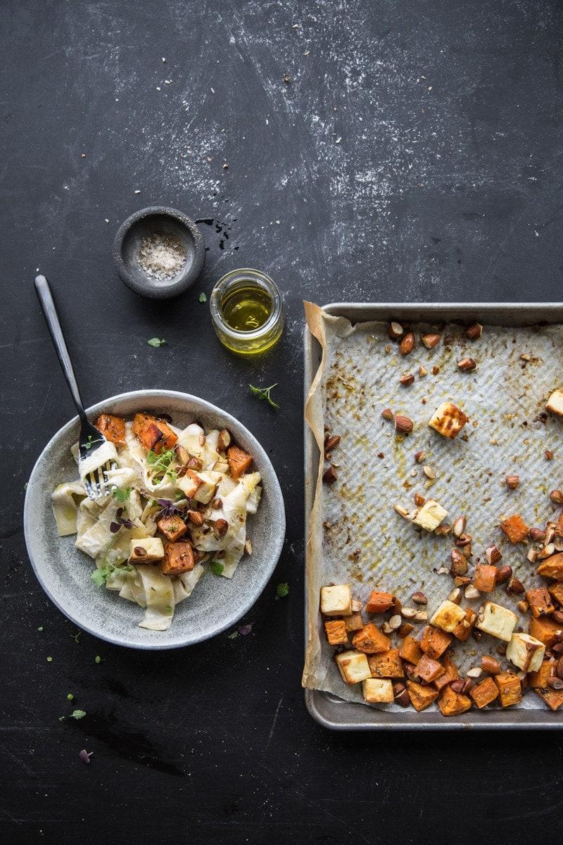 Creamy Sweet Potato And Halloumi Pasta - Cook Republic