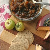 Spicy green tomato and apple chutney - move over, Mrs Ball!