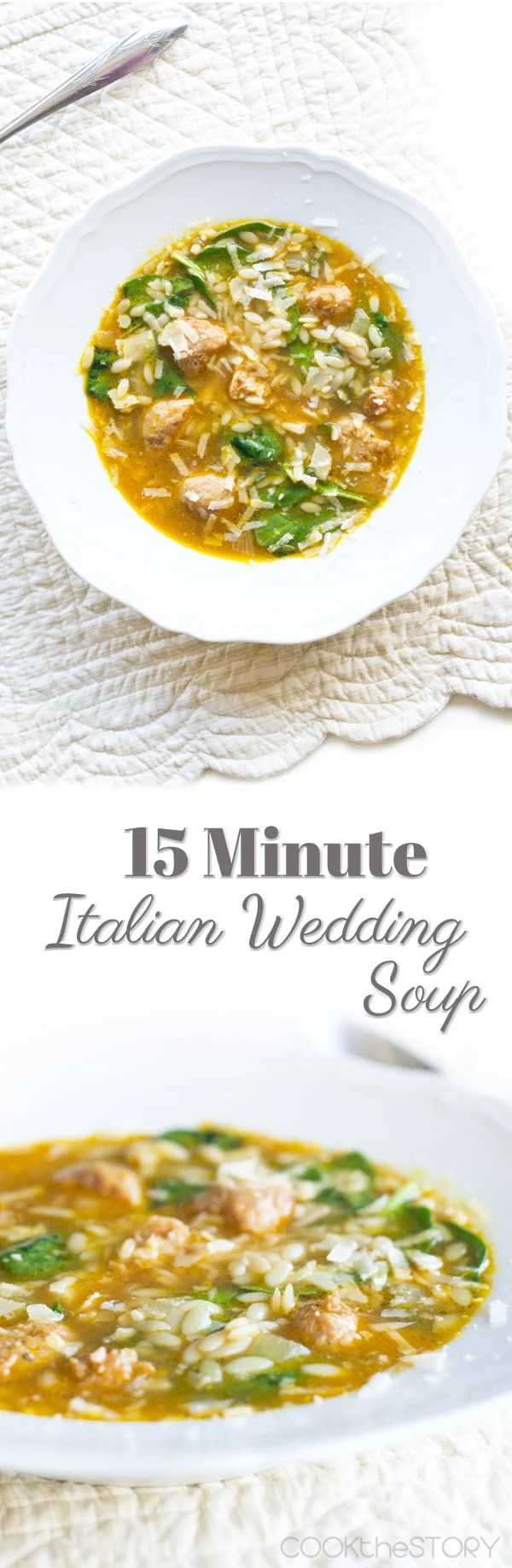15 Minute Italian Wedding Soup