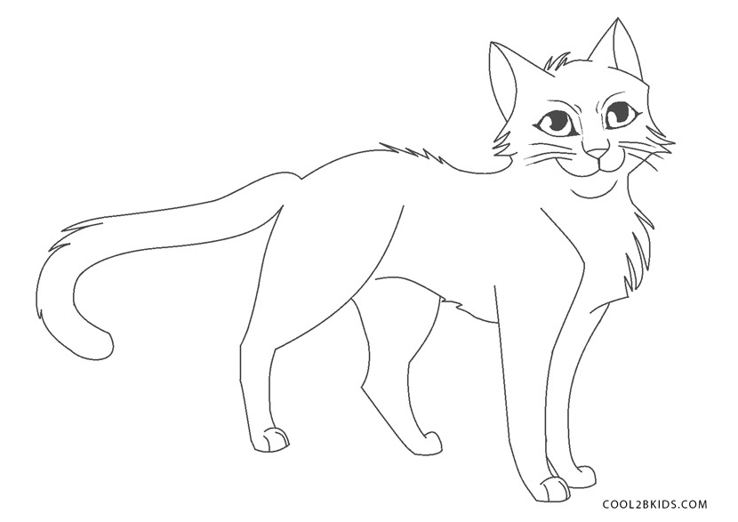Warrior cat coloring games - E Warrior Cat Coloring Pages