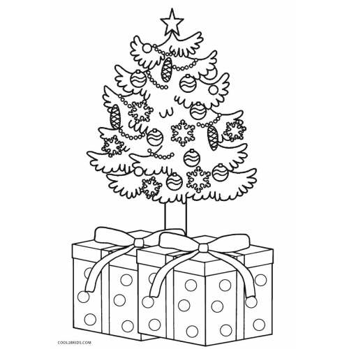 Medium Crop Of Christmas Tree Coloring Page