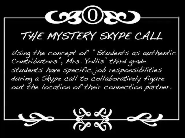 Mystery skype is a great technique for the classroom