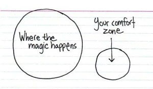 The magic happens outside your comfort zone