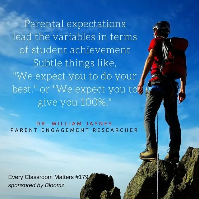 parental expectations and parent involvement research