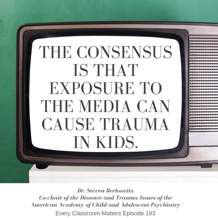 The consensus is that exposure to the media can cause trauma in kids.