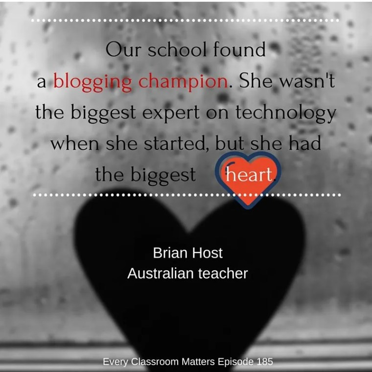 We found a blogging champion. She wasn't the biggest expert on technology when she started but she had the biggest heart.1