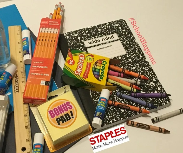 Back to School #SchoolHappens Staples