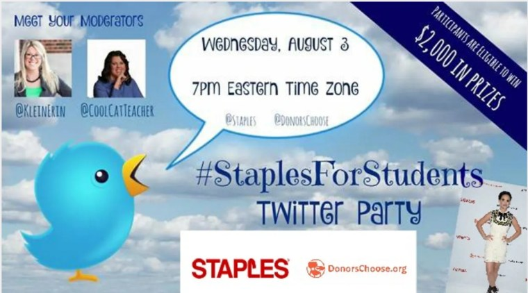 Back to School Twitter Party