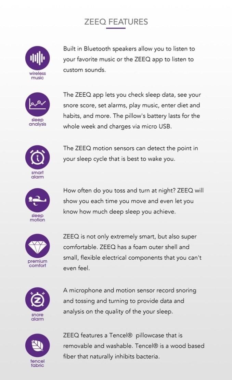 Zeeq-Kissen-Features
