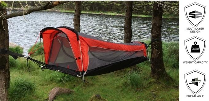 Crua Hybrid - Ein Zelt als Hängematte
