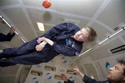 Steven Hawking in Zero G credit MSNBC