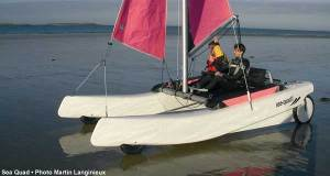 "Sea Quad may be the first ""Kite-A-Maran"" but it also works with sails on or off the water."