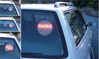 Driving emoticons