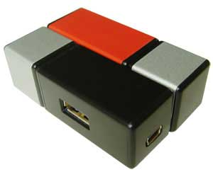 USB hub that looks like a Rubik's Cube