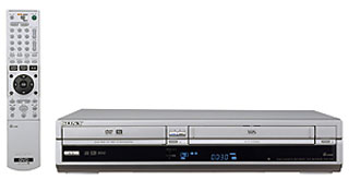 Sony dual DVD and VHS recorder