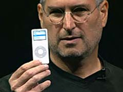 Steve Jobs with an iPod