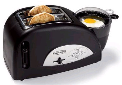 Egg cooker and toaster combo